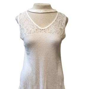 ANTHROPOLOGIE Blu Pepper Lace Top  Blouse Size S